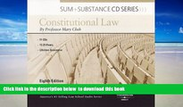 PDF [DOWNLOAD] Cheh s Sum and Substance Audio Constitutional Law, 8th (CD) READ ONLINE