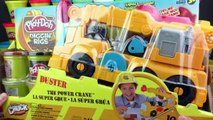 Play-Doh Diggin Rigs Buster The Power Crane Unboxing