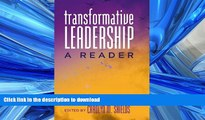 Hardcover Transformative Leadership: A Reader (Counterpoints) On Book