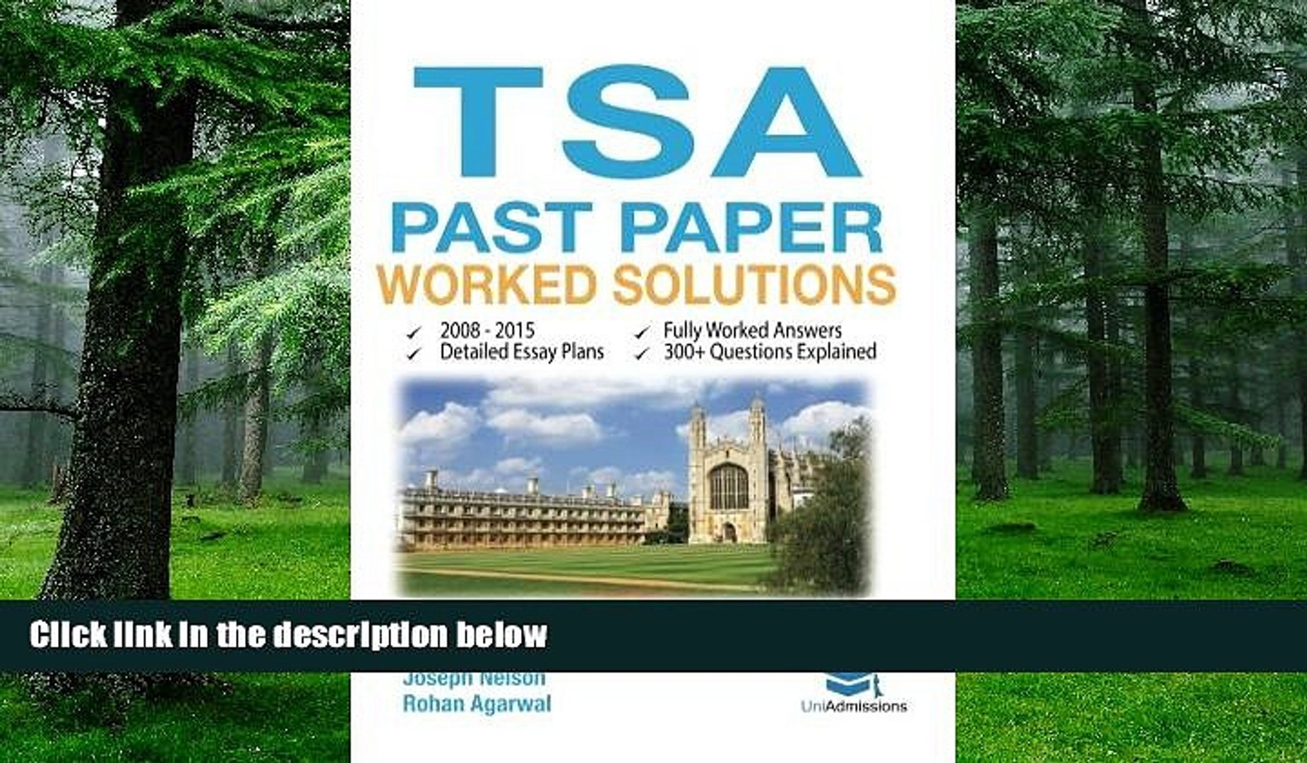Download Joseph Nelson TSA Past Paper Worked Solutions: 2008 - 2015, Fully  worked answers to 300+