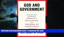 Buy Rev. Barry Lynn God and Government: Twenty-Five Years of Fighting for Equality, Secularism,