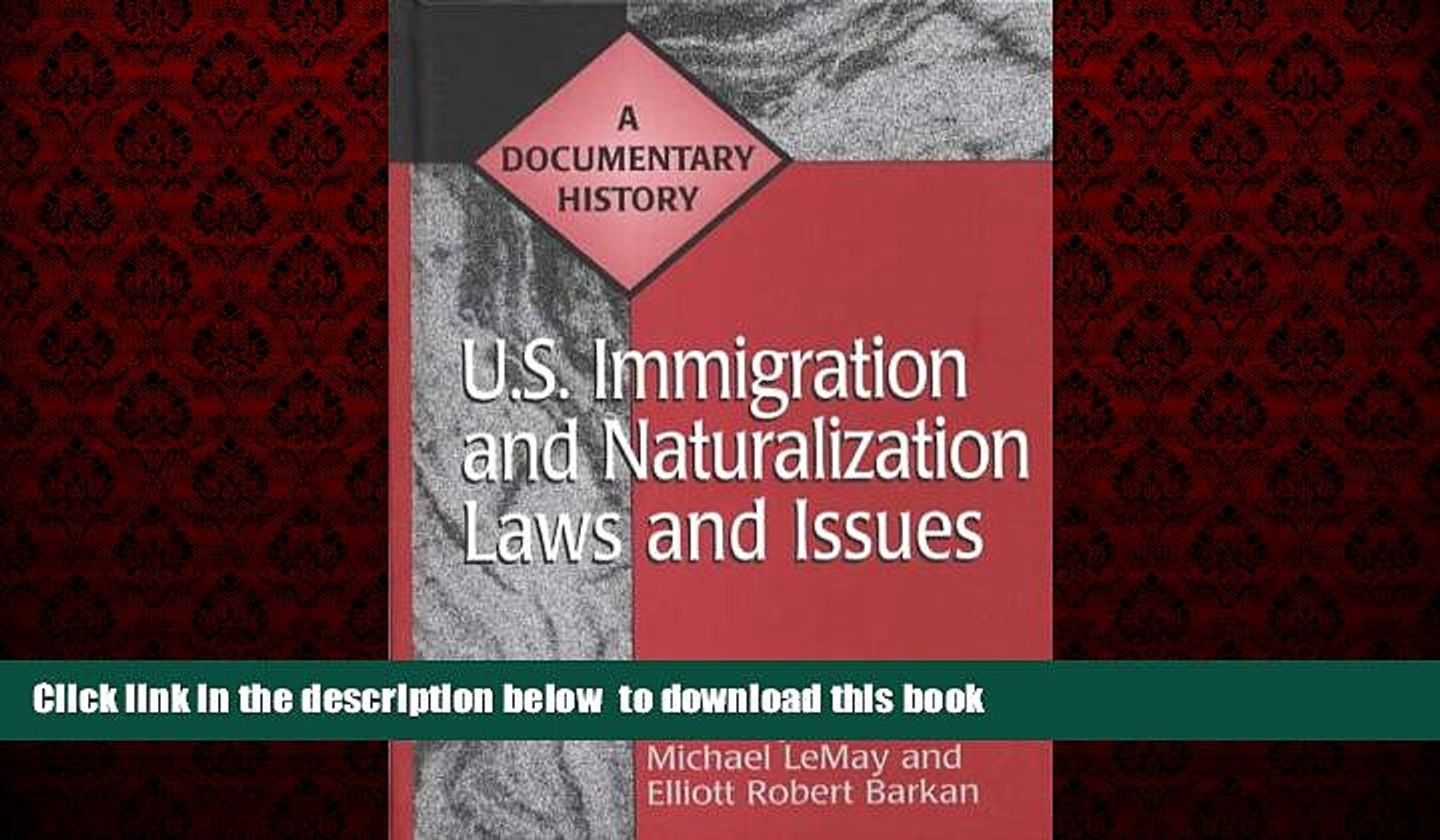Audiobook U.S. Immigration and Naturalization Laws and Issues: A Documentary History (Primary