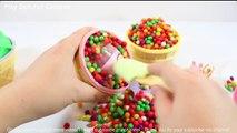 Play doh Icecream & Kinder surprise eggs peppa pig espanol pony elsa kinder video toys minion circle