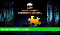 READ LSAT Logic Games Solutions Manual: Complete Solutions to All Analytical Reasoning Sections