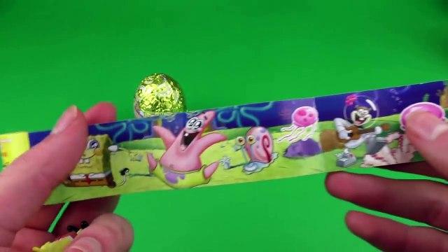 SpongeBob SquarePants Surprise Eggs Opening - SpongeBob, Patrick, Squidward Toys