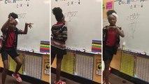 Des élèves apprennent à faire une division en chantant