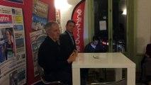Eric Pilaud, président du FCG, face aux lecteurs du Dauphiné Libéré