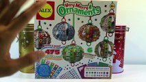 ALEX Toys Craft Very Merry Ornaments - DIY Christmas Ornaments Review and Unboxing
