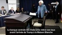 La banque centrale des Etats-Unis relève son taux directeur
