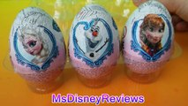 NEW new Disney Frozen Surprise Eggs With Princess Anna & Queen Elsa El Reino del Hielo