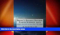 Price Brodys Regents Review: Earth Science 2015: Regents Review in less than 100 pages (Brodys