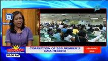 Usapang SSS: Correction of SSS member's data record