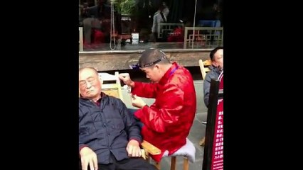 Chinese Ear Cleaning (149) Street Ear Cleaning Relaxation and Stress Relief
