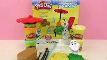 Play-Doh Olaf en été – à la plage avec les lunettes de soleil et une couverture de Pique-Nique