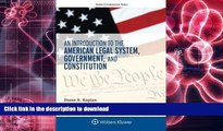 Pre Order An Introduction to the American Legal System, Government, and Constitution (Aspen