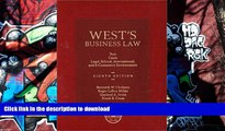 Read Book West s Business Law: Text and Cases--Legal, Ethical, Regulatory, International and