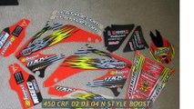 Des autocollants moto cross 450 CRF de haute qualité