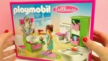 Bain Playmobil – Playmobil Dollhouse Bain romantique 5307 Démo – Grande salle de bain avec toilettes