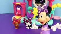 Frozen Elsa at Minnie Mouse Pampering Pets Salon Barbie Kelly Felicia Pet Grooming DisneyCarToys