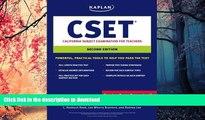 PDF Kaplan CSET: California Subject Examination for Teachers (Kaplan Cset: The California Subject