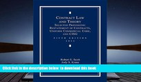BEST PDF  Contract Law and Theory: Selected Provisions: Restatement of Contracts and Uniform