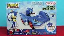 Sonic Toys! Sonic The Hedgehog Sonic And Speed Star Race Car, Sonic Action Figure and Trophy 1UNQC