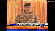 Army Chief 1st tim Speech on Media in the Ceremony for Martyred children at APS Peshawar