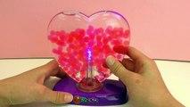 Petites nouvelles de notre lampe Orbeez Light Up Heart cœur magique qui change de couleurs