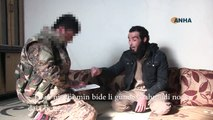 An ISIS terrorist surrendered to the YPG fighters near Raqqa