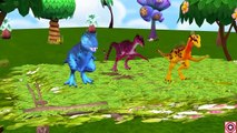 Five Little Ducks Dinosaurs Jumping | Little Babies Dinosaur | Dinosaur Short Film For Children