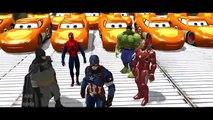 The Avengers Captain America + Spiderman + Hulk + Lightning McQueen Cars song for kids