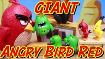 Angry Birds Giant Red Bird Attacks Bad Piggies with Egg Explosion Parody of Angry Birds Movie Toys