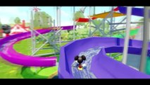 Mickey Mouse Minnie Mouse Donald Duck Guffy and Pluto go to Slide and have fun Together + Songs Kids
