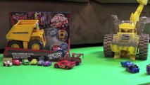 Cars 2 Dump Truck Tipping Colossus Tractor Tipping Micro Drifters Disney Pixar Screaming Banshee vky