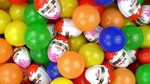 Bain de balles avec oeufs surprises | 200 Balles et 24 Kinder-surprises