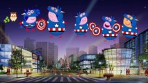 Peppa Pig CAPTAIN AMERICA Daddy Fingers Painting / Family Finger Song Nursery Rhymes Lyrics