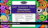 Price SAT Subject Tests: Literature 2005-2006 (Kaplan SAT Subject Tests: Literature) Kaplan For