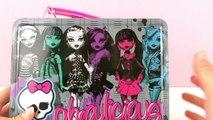 Monster High Lunchbox avec du maquillage, des bijoux et du vernis à ongles Unboxing
