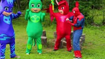 PJ Masks SpiderRomeo with Spiderman Owlette Catboy - PJ Masks Adventures with Paw Patrol Peppa Pig