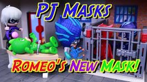 PJ Masks Romeo Play Doh Mask Jails Catboy and Owlette Luna Girl and Romeo Steal Gekko Superpowers
