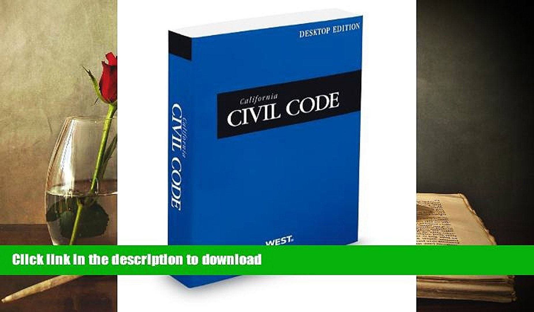 Pre Order California Civil Code, 2013 ed. (California Desktop Codes) On Book