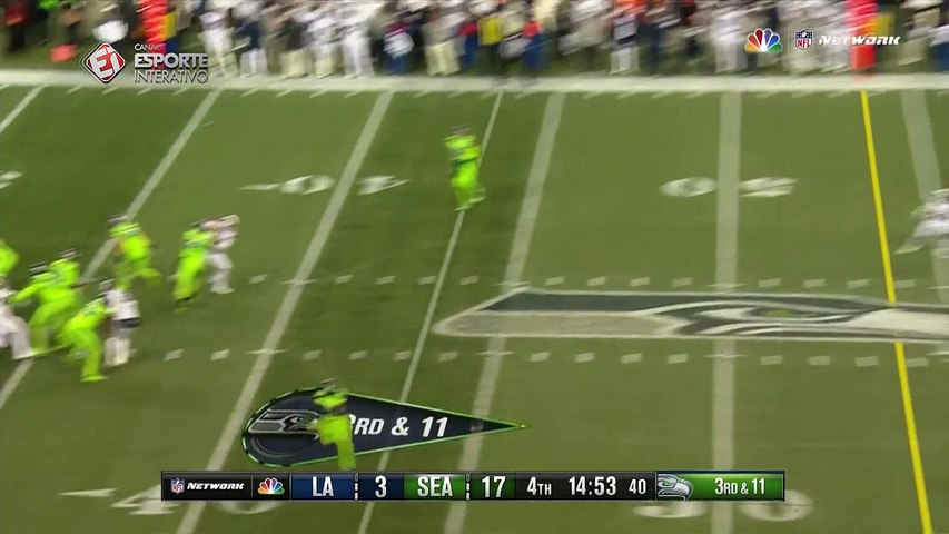 ESPETACULAR! Confira o sensacional passe para touchdown de Russell Wilson