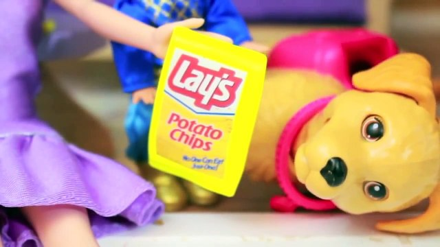 PLAY DOH FROZEN VET DOG Potato Chips Princess Anna Toby Barbie Dog Parody AllToyCollector