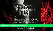 Pre Order The Void Generation  How A Generation of Void Restraining Orders Voided the Lives of a