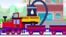 TRENES infantiles - Caricaturas de Trenes - Dibujos Animados Educativos - Vídeos Para Niños