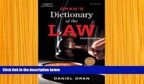 READ book Oran s Dictionary of the Law Daniel Oran Trial Ebook