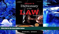 READ book Oran s Dictionary of the Law Daniel Oran Pre Order