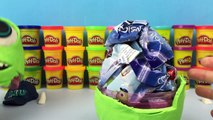 BIG Play Doh Surprise Egg Monsters University Toys Toy Story Buzz Lightyear The Incredibles Dash