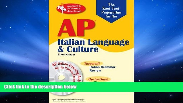 PDF  AP Italian Language and Culture w/ Audio CDs (Advanced Placement (AP) Test Preparation) For