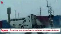 États-Unis: un train perfore un camion sur un passage à niveau